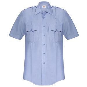Elbeco Paragon Plus Men's Short Sleeve Shirt Large Polyester Cotton Blue