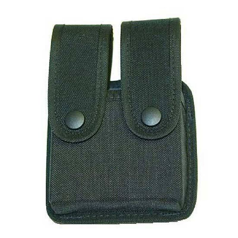 Uncle Mike's Fitted Double Mag Pouch Single Stack Cordura Black