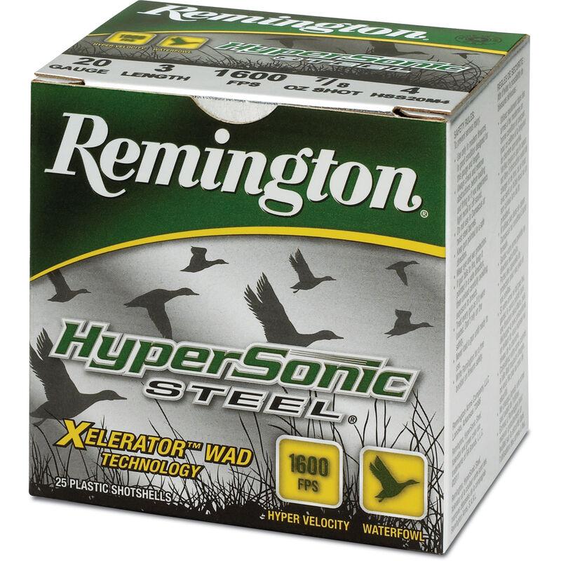 """Remington Hypersonic Steel 20 Gauge Ammunition 250 Rounds 3"""" #4 Steel 1 Ounce HSS20M4"""