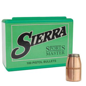 """Sierra .38 Caliber .357"""" Diameter 158 Grain Sports Master Jacketed Soft Point Bullets 100 Count 8340"""