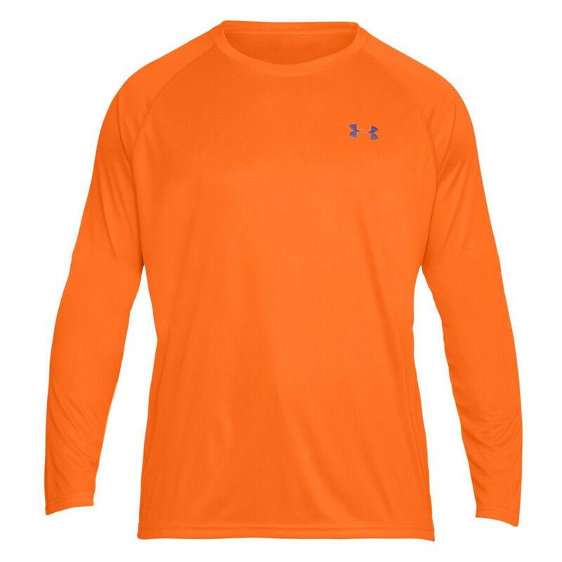 cba49f7a Under Armour Performance Men's Long Sleeve T Shirt Small Polyester Blaze  Orange
