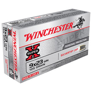 Winchester Super X 9x23 Win Ammunition 50 Rounds 125 Grains Silvertip HP 1450 fps