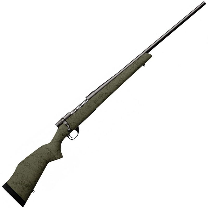 "Weatherby Vanguard RC Bolt Action Rifle .300 Wby Mag 3 Rounds 26"" Barrel Green Synthetic Stock with Black Spiderweb Blued Finish"