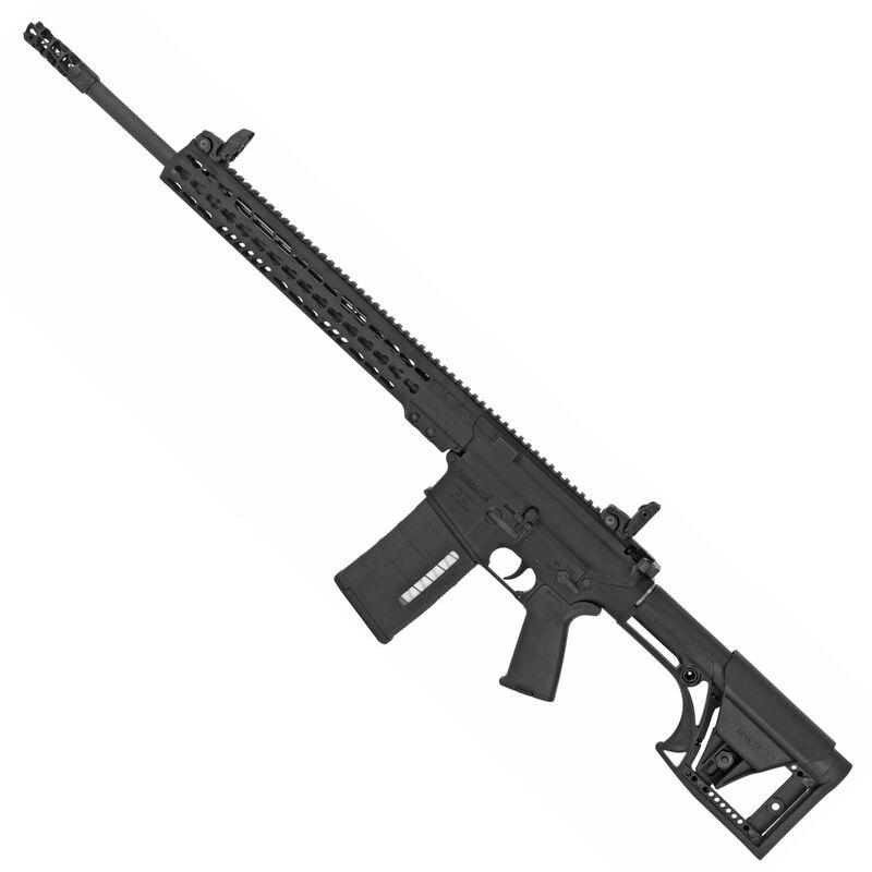 "ArmaLite AR-10 Tactical Semi Auto Rifle .308 Winchester 20"" SST Triple Lapped Heavy Barrel 15"" Free Float KeyMod Rail 25 Round PMAG MBA-1 Stock Black"