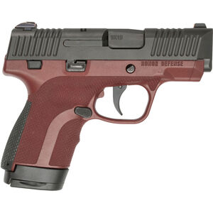 "Honor Guard Sub-Compact 9mm Luger Semi Auto Pistol 7 Rounds 3.2"" Barrel Manual Safety Polymer Mahogany"