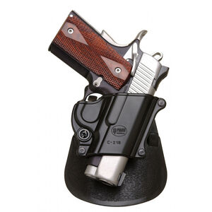 Fobus Compact Roto-Paddle/Belt Holster 1911/Hi Power/Kahr Right Hand Polymer Black C21BRP