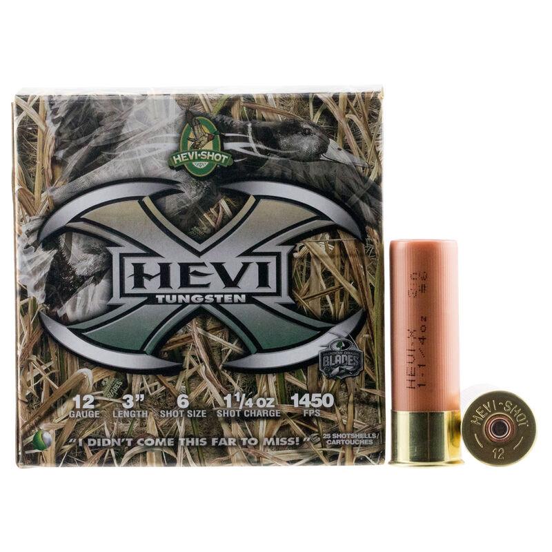"Hevi-Shot Hevi-X 12 Gauge Ammunition 25 Rounds 3"" #6 1-1/4oz Tungsten Lead Free Shot 1450fps"