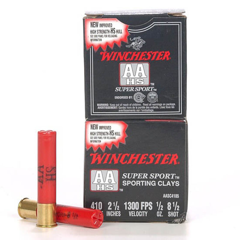 "Winchester AA Super Sport 410 2-1/2"" #8.5 1/2 oz 250 Rd Case"