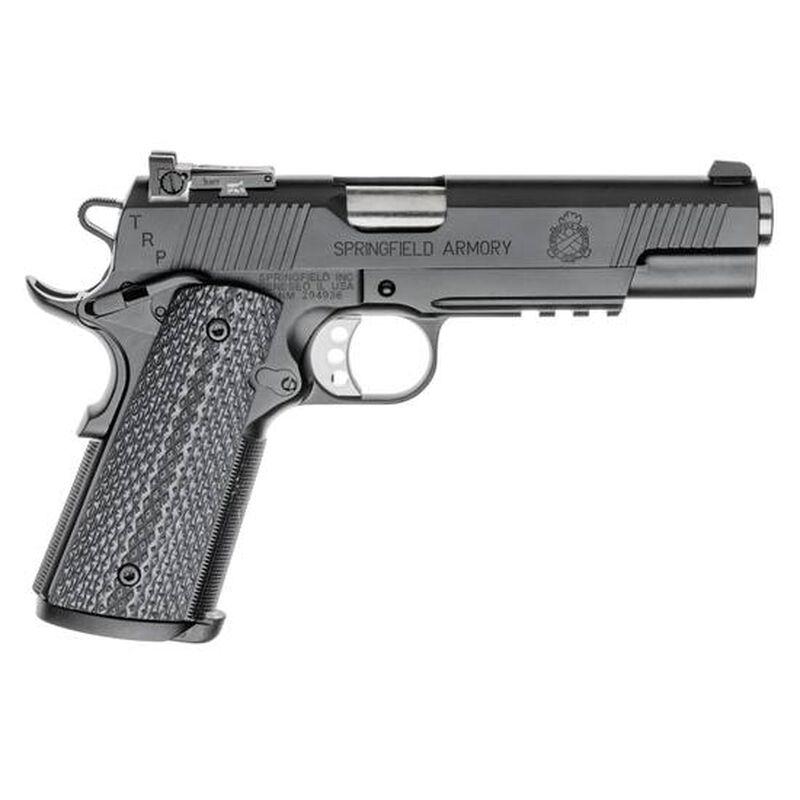 "Springfield 1911 TRP Operator Semi Auto Pistol 45 ACP 5"" Barrel 7 Rounds G10 Grips Armory Kote Black"