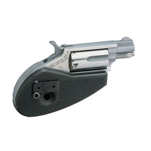 "North American Arms Mini Revolver Combo 22 WMR/22 LR 1.125"" Barrel 5 Rounds Holster Grip Stainless Steel"