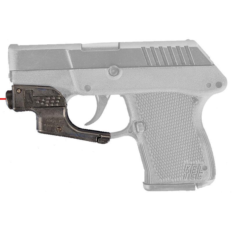 AimShot Trigger Guard Mounted Red Laser Kel-Tec P3AT CR1/3N Battery Nylon Reinforced Carbon Fiber Housing Matte Black Finish