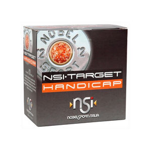 "NobelSport Target Handicap 12 Gauge 2-3/4"" #8 Lead 1-1/8 Ounce 25 Round Box"