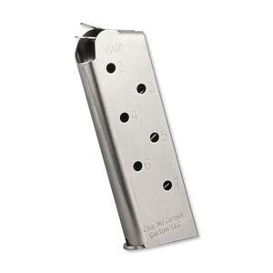 Chip McCormick 1911 Officer .45 ACP Magazine Match Grade 7 Rounds Stainless Steel M-MG-45CP7-P