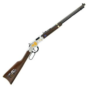 """Henry Golden Boy EMS Tribute Edition Lever Action Rifle .22 LR 20"""" Barrel 16 Rounds Engraved Receiver Walnut Stock Nickel Plated Finish H004EMS"""