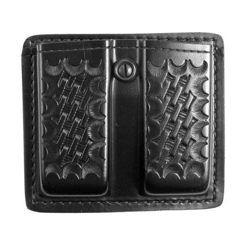 "Gould & Goodrich Double Magazine Pouch 2.25"" Belt Beretta Browning GLOCK H&K Ruger SIG Sauer S&W Polymer Basket Weave Black K617-3W"