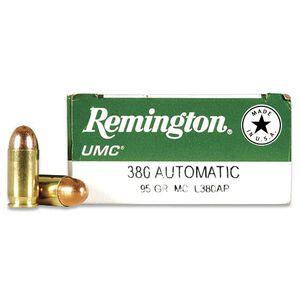 Remington UMC .380 ACP 95gr FMJ 955 fps 50 Rounds