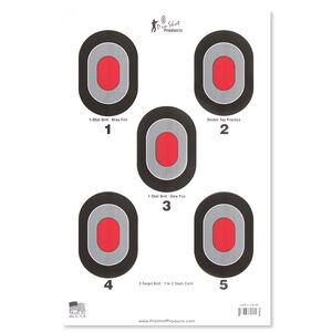 Pro-Shot Bullseye with Red Center Target 5 Pack