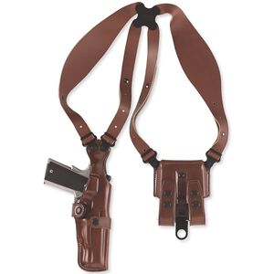 """Galco Vertical Shoulder Holster System 2"""" Revolvers Ambidextrous Leather Tan  VHS118"""