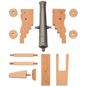 """Traditions Old Ironsides Black Powder Cannon Kit .69 Cal 12.5"""" Barrel Wooden Carriage Steel"""