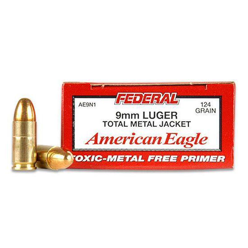 Federal 9mm Luger 124gr TMJ 1120 fps Brass 50 Round