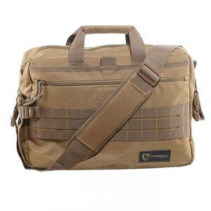 """DRAGO Gear Tactical Laptop Briefcase 18.5""""x5.5""""x13"""" 600D Polyester Tan 15305TN"""