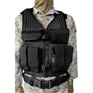 BLACKHAWK! Omega Elite Tactical Vest #1 S.T.R.I.K.E. MOLLE Webbing Size Adjustable Nylon Black 30EV03BK