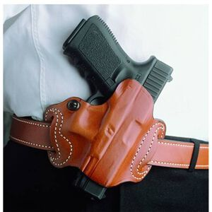 DeSantis Mini Slide GLOCK 20, 21, 29, 30 Belt Holster Right Hand Leather Tan 086TAE8Z0