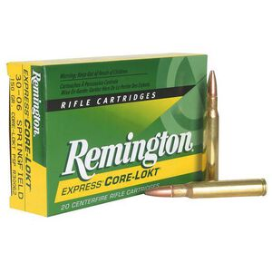Remington Express .338 Winchester Magnum Ammunition 20 Rounds 225 Grain Core-Lokt PSP Soft Point Projectile 2780fps