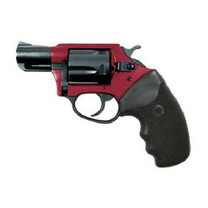 "Charter Arms Undercover Lite Revolver .38 Special +P 2"" Barrel 5 Round Black Rubber Grip Aluminum Red Black Finish 53824"