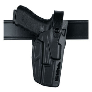 Safariland Model 7280 7TS SLS Mid-Ride Duty Belt Holster Right Hand Fits SIG P320 9/40 Full Size with Light SafariSeven Plain Black