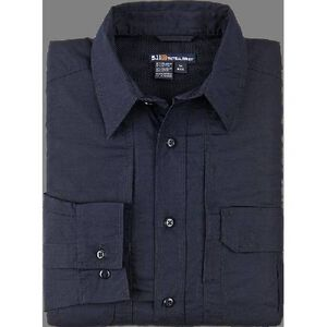 5.11 Tactical Women's Long Sleeve Taclite Shirt Polyester Cotton Small Black 62070