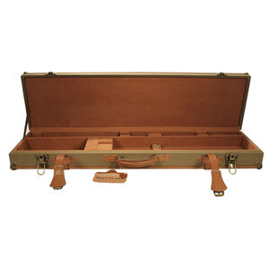 Birchwood Casey Over/Under Shotgun LeatherLock Deluxe Canvas Takedown Case Tan