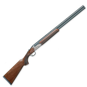 "Rizzini BR110 Light Luxe 28 Gauge O/U Break Action Shotgun 28"" Barrel 2.75"" Chamber 2 Rounds Bead Sight Walnut Stock Grey Anodized Alloy Frame Blued Finish"