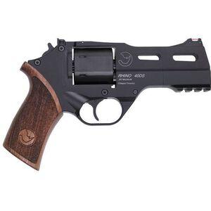 "Chiappa Rhino 40DS 357 Magnum 4"" 6rds Wood Grip Black"