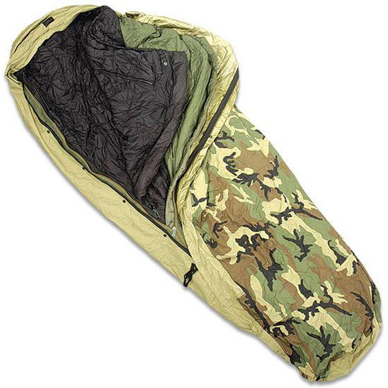 Brand New US Military ECWS Four Piece Modular Sleep System -30 Degrees  Bivy, Patrol Bag, Intermediate Bag, Compression Sack      NSN  8465-014456274