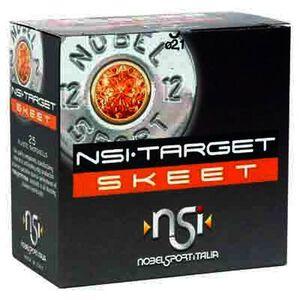 """NobelSport Target Skeet 12 Gauge 2-3/4"""" #9 Lead 1-1/8 Ounce 25 Round Box"""