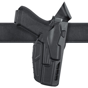Safariland Model 7390 7TS ALS Mid-Ride Duty Belt Holster Right Hand Fits SIG P320 9/40 Full Size with Light SafariSeven Plain Black