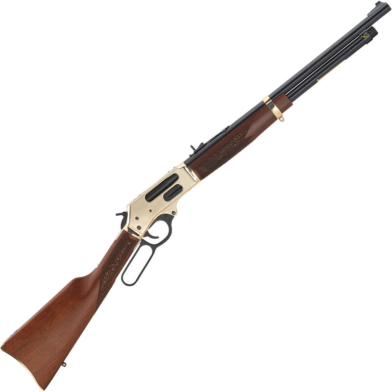 """Henry Repeating Arms Side Gate .410 Bore Lever Action Shotgun 20"""" Cylinder Bore Barrel 2-1/2"""" Chamber 5 Rounds Rifle Sights Brass Receiver Walnut Stock Blued Finish"""