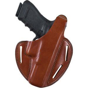 Bianchi #7 Shadow II Belt Holster Size 2 Right Hand Leather Tan