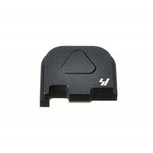 Strike Industries GLOCK Slide Cover Plate Fits GLOCK 43 Only V1 Button Aluminum Black SI-GSP-G43-V1-BK