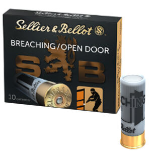 "Sellier & Bellot 12 Gauge Special Ammunition 10 Rounds 2-3/4"" Breaching/Open Door Shot Shells .5 Oz Load Plastic Wad 1575fps"