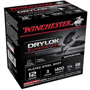 "Winchester Drylok 12 Ga 3"" BB Steel 1.25oz 250 Rounds"