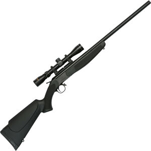 "CVA Hunter Outfit Single Shot Break Action Rifle .450 Bushmaster 25"" Barrel Konus 3-9x32 Scope CrushZone Recoil Pad Synthetic Forend/Stock Matte Black Finish"