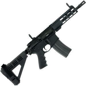 "Windham Weaponry .300 Blackout AR-15 Semi Auto Pistol 9"" Barrel 30 Rounds Flip Up Sights Free Float Handguard SB Tactical Pistol Brace Black Finish"