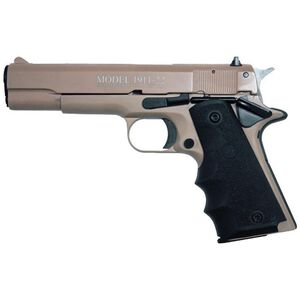 "Chiappa 1911-22 Semi Auto Pistol .22 LR 5"" Barrel 10 Rounds Alloy Frame Rubber Grips Tan"