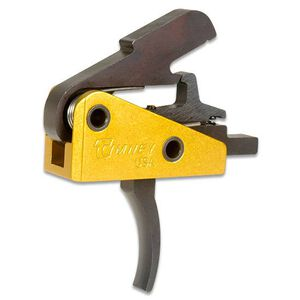 "Timney Triggers AR-15 Drop-In Single-Stage Trigger 3 lbs .154"" Pins Curved Shoe Yellow 667S"