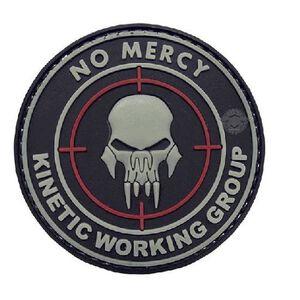 Tru-Spec PVC No Mercy Morale Patch 2 Inches Black/White 6787000