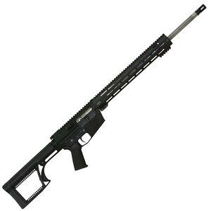"Alex Pro Firearms Hunter 6.5 Creedmoor Semi Automatic Rifle 22"" 416 Stainless Steel Barrel 20 Rounds M-LOK Free Float Hand Guard Luth-AR MBA-2 Stock Matte Black"