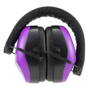 Pyramex VG80 Series Earmuff 25dB Noise Reduction Rating Adjustable Headband Black/Purple Accents