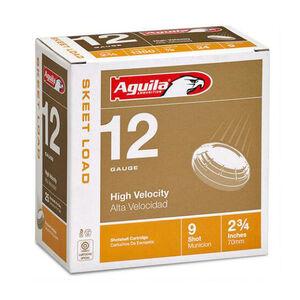 "Aguila Skeet High Velocity 12 Ga 2.75"" #9 Lead 250 Rounds"